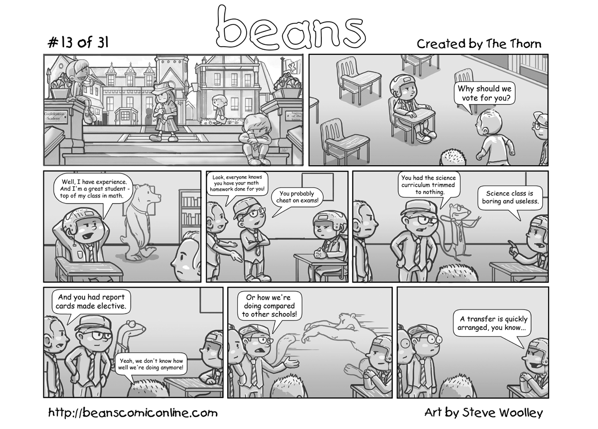 beans taking the p out of politics one strip at a time beans 13
